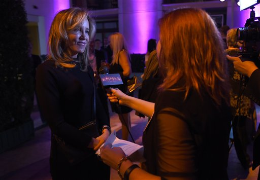 """<div class=""""meta image-caption""""><div class=""""origin-logo origin-image ap""""><span>AP</span></div><span class=""""caption-text"""">Felicity Huffman, left, participates in an interview at the Television Academy's Performers Emmy Celebration at the Montage Beverly Hills on Monday, Aug. 22, 2016. (Jordan Strauss/Invision/AP)</span></div>"""