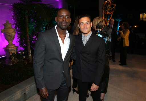 "<div class=""meta image-caption""><div class=""origin-logo origin-image ap""><span>AP</span></div><span class=""caption-text"">Sterling K. Brown, left, and Rami Malek attends the Television Academy's Performers Emmy Celebration at the Montage Beverly Hills on Monday, Aug. 22, 2016. (Invision for the Television Academy)</span></div>"