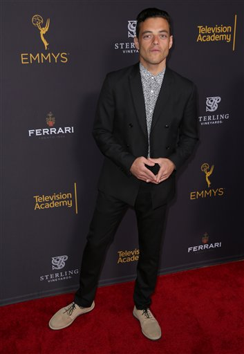 "<div class=""meta image-caption""><div class=""origin-logo origin-image ap""><span>AP</span></div><span class=""caption-text"">Rami Malek arrives at the Television Academy's Performers Emmy Celebration at the Montage Beverly Hills on Monday, Aug. 22, 2016. (Matt Sayles/Invision/AP)</span></div>"