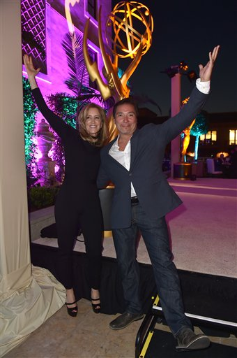 """<div class=""""meta image-caption""""><div class=""""origin-logo origin-image ap""""><span>AP</span></div><span class=""""caption-text"""">Felicity Huffman, left, and Benito Martinez attend the Television Academy's Performers Emmy Celebration at the Montage Beverly Hills on Monday, Aug. 22, 2016. (Jordan Strauss/Invision/AP)</span></div>"""
