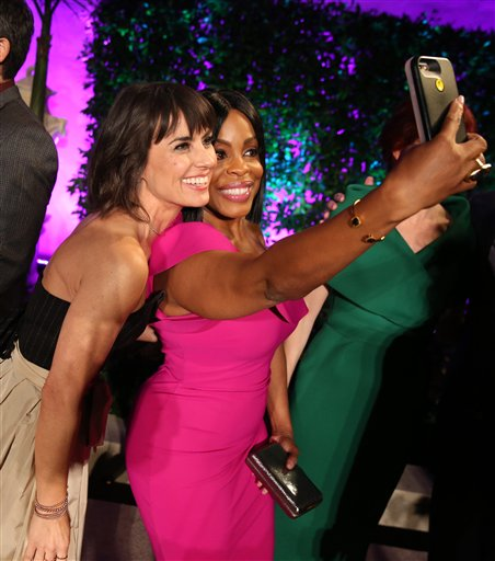 "<div class=""meta image-caption""><div class=""origin-logo origin-image ap""><span>AP</span></div><span class=""caption-text"">Constance Zimmer, left, and Niecy Nash take a selfie at the Television Academy's Performers Emmy Celebration at the Montage Beverly Hills on Monday, Aug. 22, 2016. (Invision for the Television Academy)</span></div>"