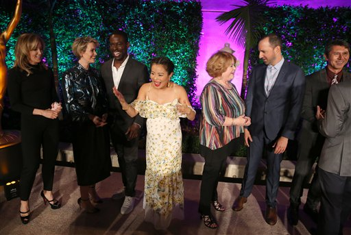 """<div class=""""meta image-caption""""><div class=""""origin-logo origin-image none""""><span>none</span></div><span class=""""caption-text"""">Stars attend the Television Academy's Performers Emmy Celebration at the Montage Beverly Hills on Monday, Aug. 22, 2016. (Matt Sayles/Invision/AP)</span></div>"""