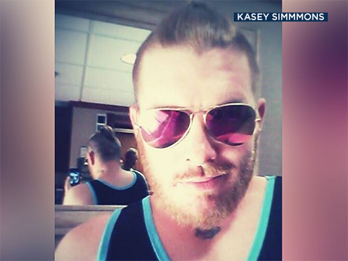 Waiter Kasey Simmons is seen in an undated photo.