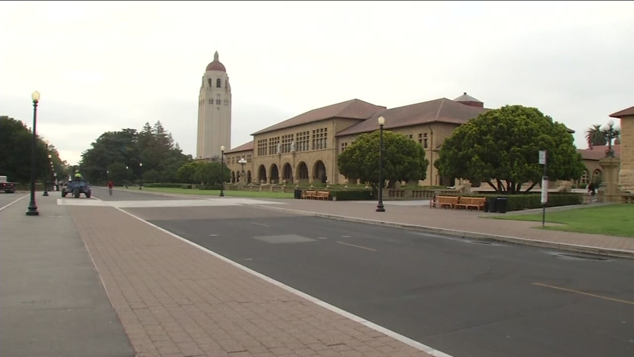 This image from Tuesday, August 23, 2016 shows the Stanford University campus in Stanford, Calif.
