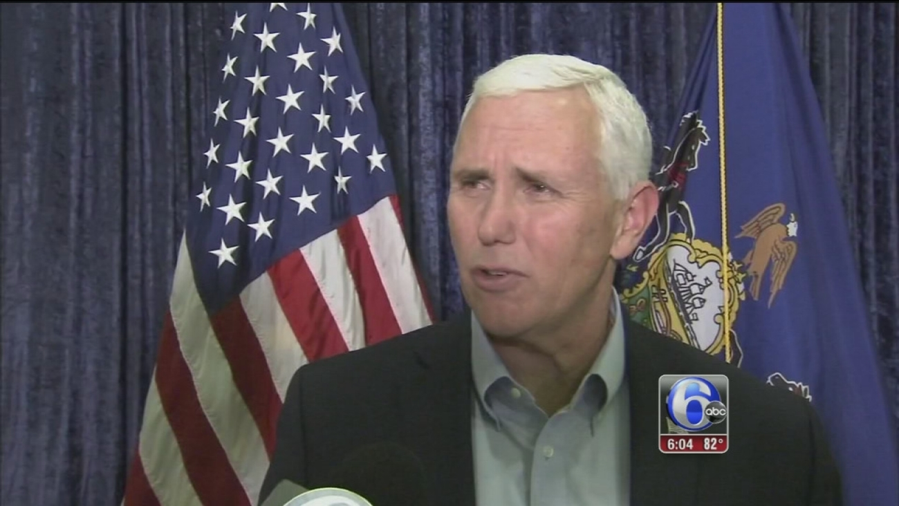 VIDEO: Pence speaks in Montco, Bucks