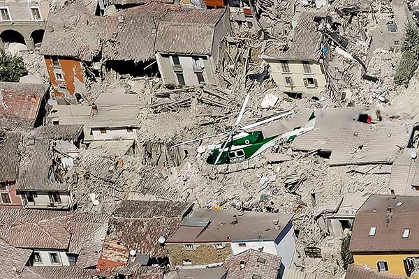 <div class='meta'><div class='origin-logo' data-origin='none'></div><span class='caption-text' data-credit='Gregorio Borgia/AP Photo'>Rescuers search amid rubble following an earthquake in Amatrice, central Italy, Wednesday, Aug. 24, 2016.</span></div>