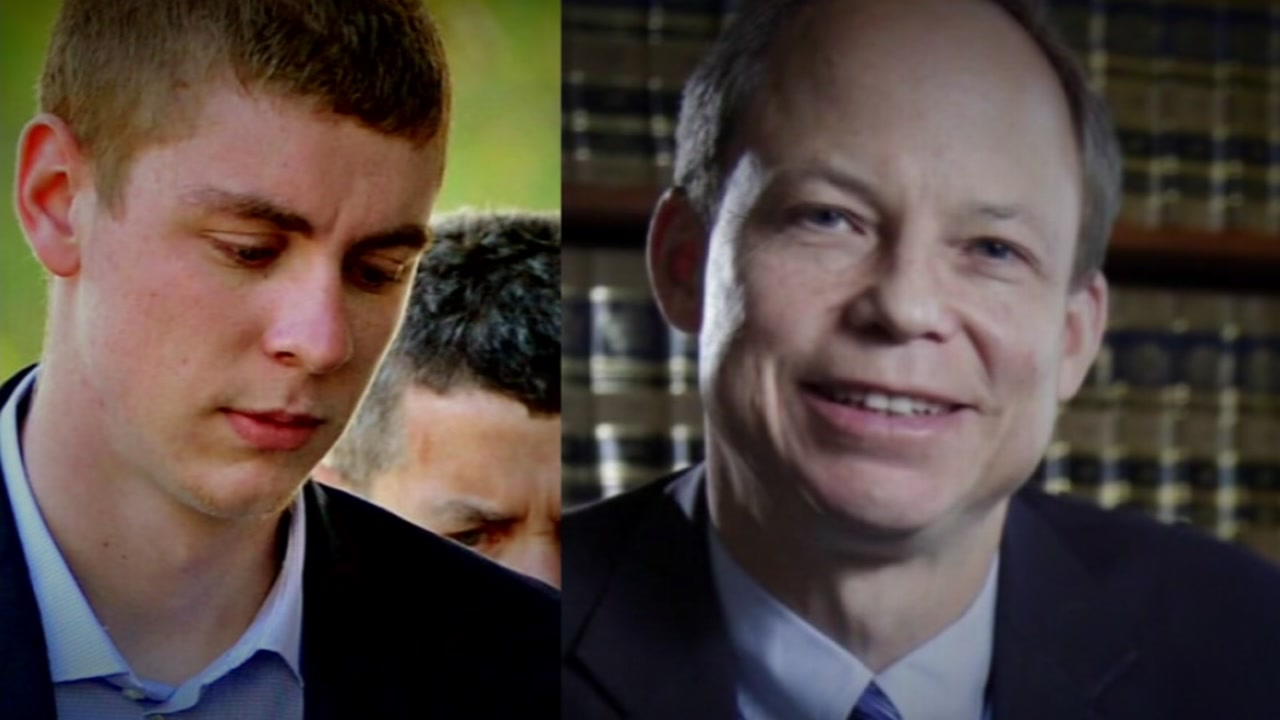 Judge Aaron Persky and former Stanford swimmer Brock Turner are seen in this undated image.