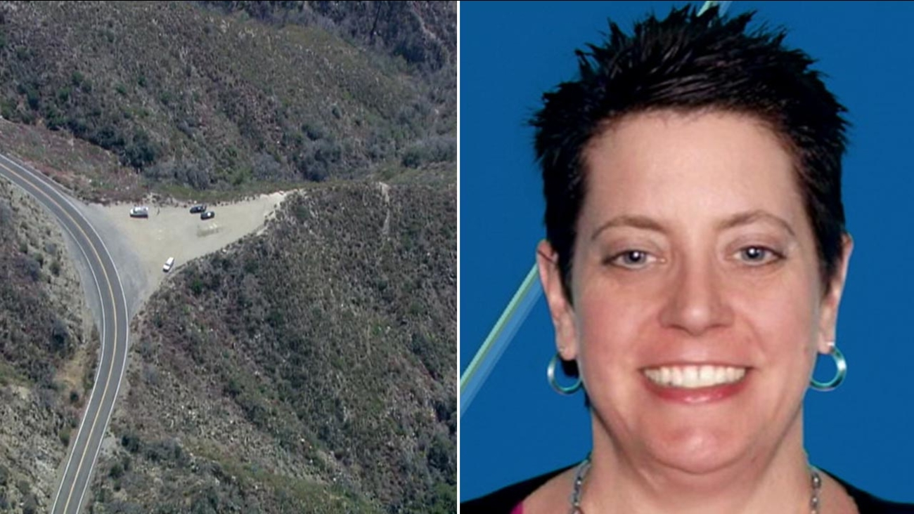 Human remains and a wrecked car were found at the off a 500-foot embankment in the Angeles National Forest. Officials say the discovery is linked to missing person, Kimberly Blum.