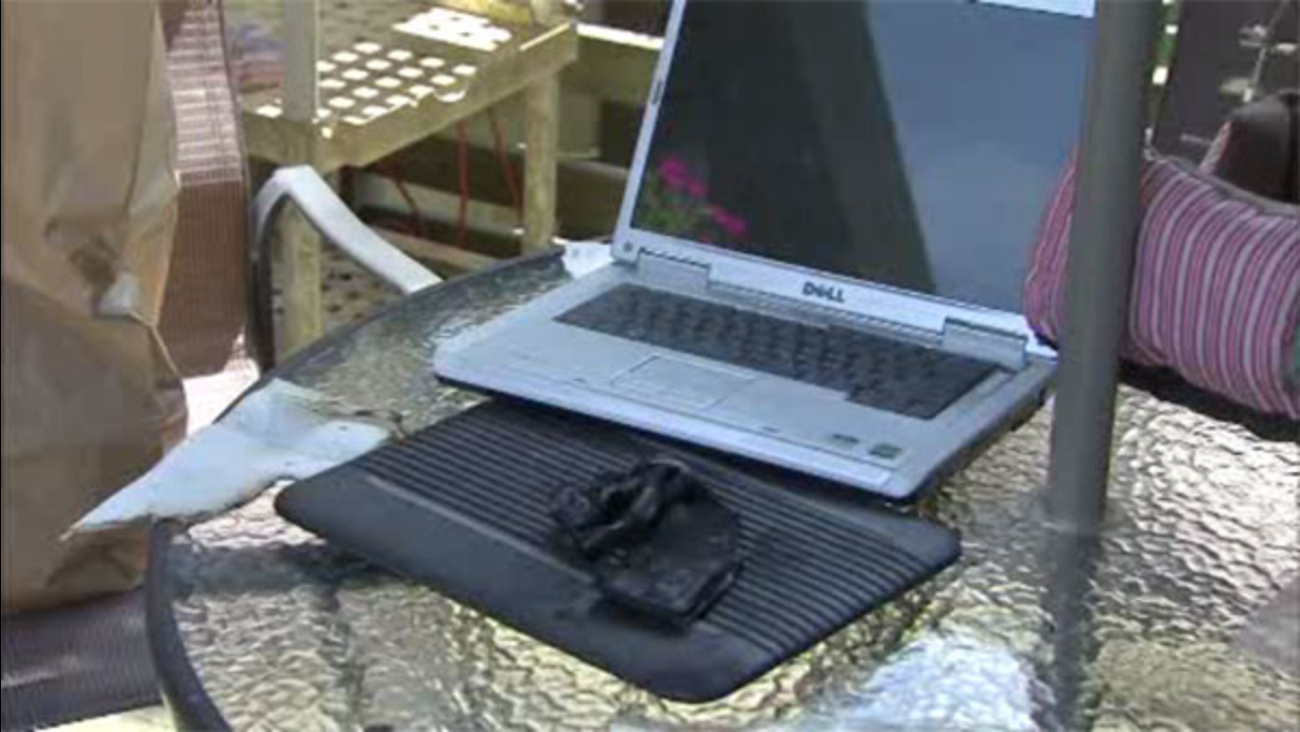 Bucks County woman burned by exploding laptop battery