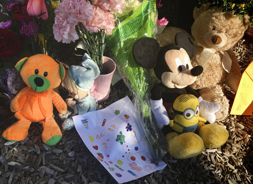 """<div class=""""meta image-caption""""><div class=""""origin-logo origin-image ap""""><span>AP</span></div><span class=""""caption-text"""">A memorial for a 10-year-old Albuquerque girl who police said was sexually assaulted, strangled then dismembered is shown at Petroglyph Elementary School on Friday, Aug. 26, 2016 (AP)</span></div>"""
