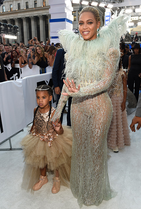 "<div class=""meta image-caption""><div class=""origin-logo origin-image ap""><span>AP</span></div><span class=""caption-text"">Beyonce, right, and Blue Ivy arrive at the MTV Video Music Awards at Madison Square Garden on Sunday, Aug. 28, 2016, in New York. (Chris Pizzello/Invision/AP)</span></div>"