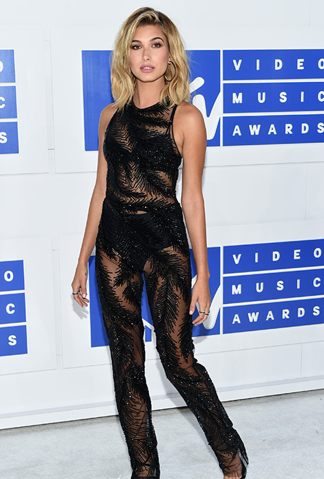 "<div class=""meta image-caption""><div class=""origin-logo origin-image ap""><span>AP</span></div><span class=""caption-text"">Hailey Rhode Baldwin arrives at the MTV Video Music Awards at Madison Square Garden on Sunday, Aug. 28, 2016, in New York. (Evan Agostini/Invision/AP)</span></div>"