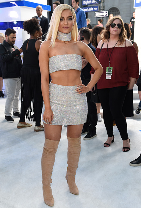 "<div class=""meta image-caption""><div class=""origin-logo origin-image ap""><span>AP</span></div><span class=""caption-text"">Bebe Rexha arrives at the MTV Video Music Awards at Madison Square Garden on Sunday, Aug. 28, 2016, in New York. (Chris Pizzello/Invision/AP)</span></div>"