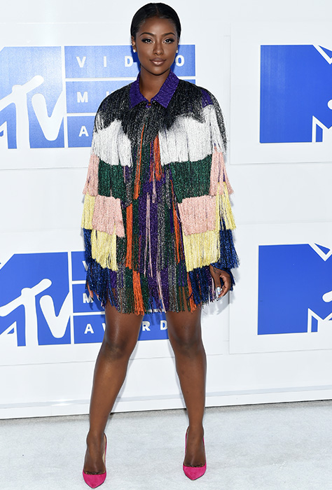 "<div class=""meta image-caption""><div class=""origin-logo origin-image ap""><span>AP</span></div><span class=""caption-text"">Justine Skye arrives at the MTV Video Music Awards at Madison Square Garden on Sunday, Aug. 28, 2016, in New York. (Evan Agostini/Invision/AP)</span></div>"