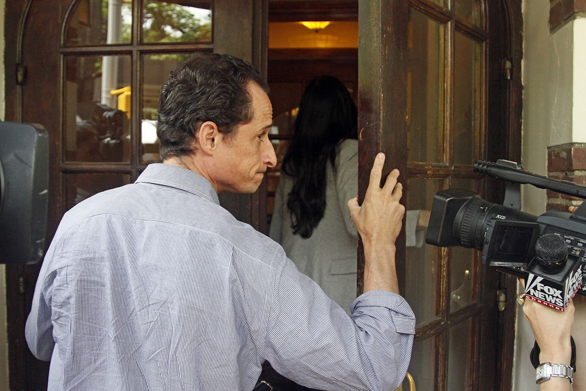 <div class='meta'><div class='origin-logo' data-origin='AP'></div><span class='caption-text' data-credit='AP Photo/Bebeto Matthews'>U.S. Rep. Anthony Weiner, D-N.Y., follows his wife, Huma Abedin into their home in Queens, N.Y., on Thursday, June 16, 2011.</span></div>