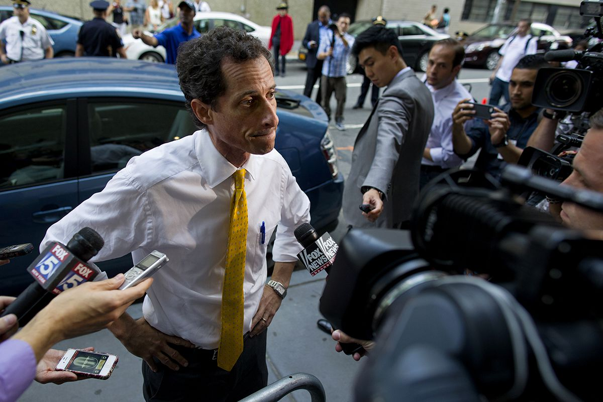 "<div class=""meta image-caption""><div class=""origin-logo origin-image ap""><span>AP</span></div><span class=""caption-text"">New York City mayoral candidate Anthony Weiner speaks to members of the news media after testifying at a New York City Housing Authority Public Hearing Wednesday, July 24, 2013. (AP Photo/Craig Ruttle)</span></div>"