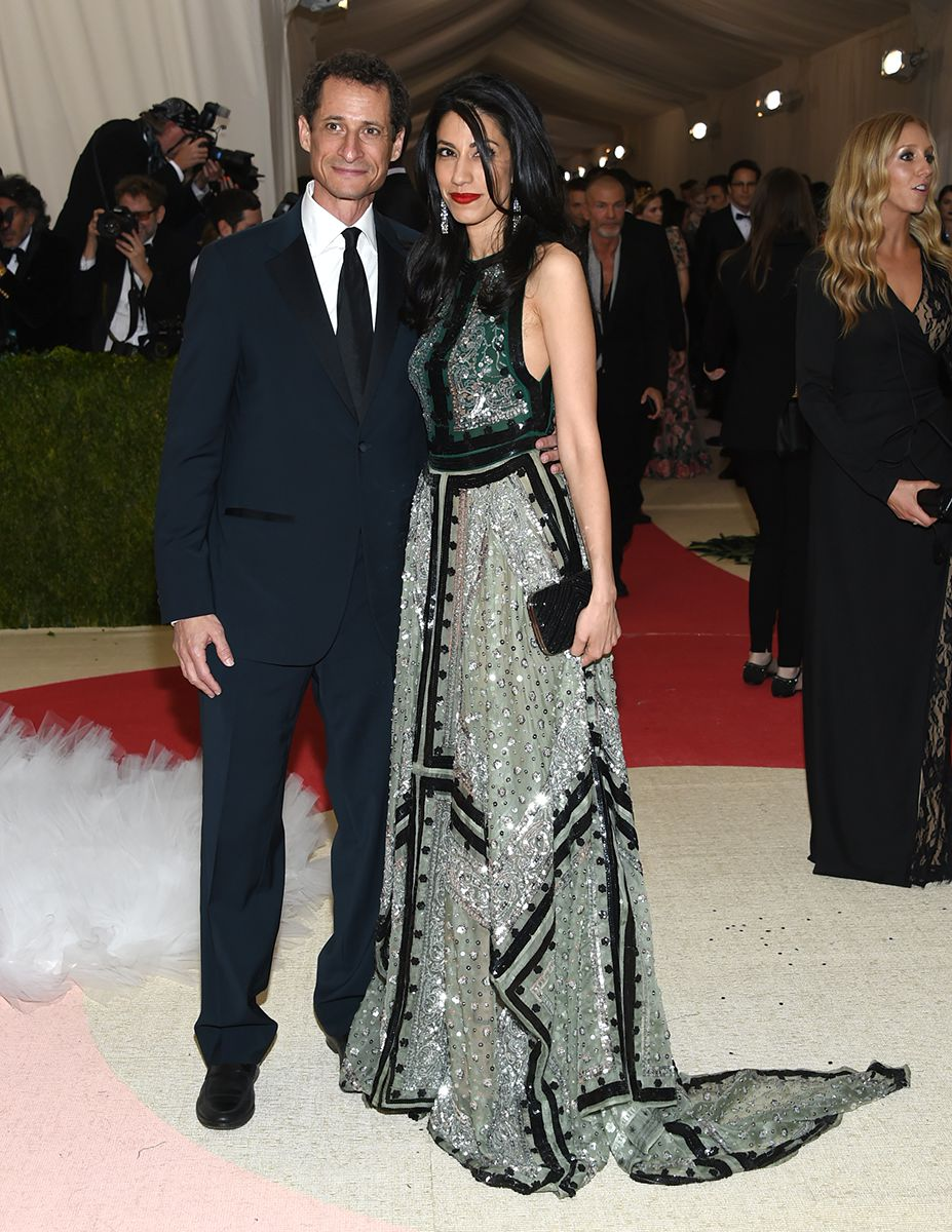 <div class='meta'><div class='origin-logo' data-origin='AP'></div><span class='caption-text' data-credit='Photo by Evan Agostini/Invision/AP'>Anthony Weiner, left, and Huma Abedin arrive at The Metropolitan Museum of Art Costume Institute Benefit Gala, on Monday, May 2, 2016, in New York.</span></div>