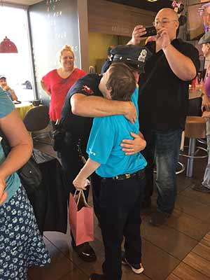 "<div class=""meta image-caption""><div class=""origin-logo origin-image none""><span>none</span></div><span class=""caption-text"">A big party was held to honor a longtime McDonald's employee. Freia David, who has Down syndrome, is retiring after 32 years. (Charles River Center/Facebook)</span></div>"