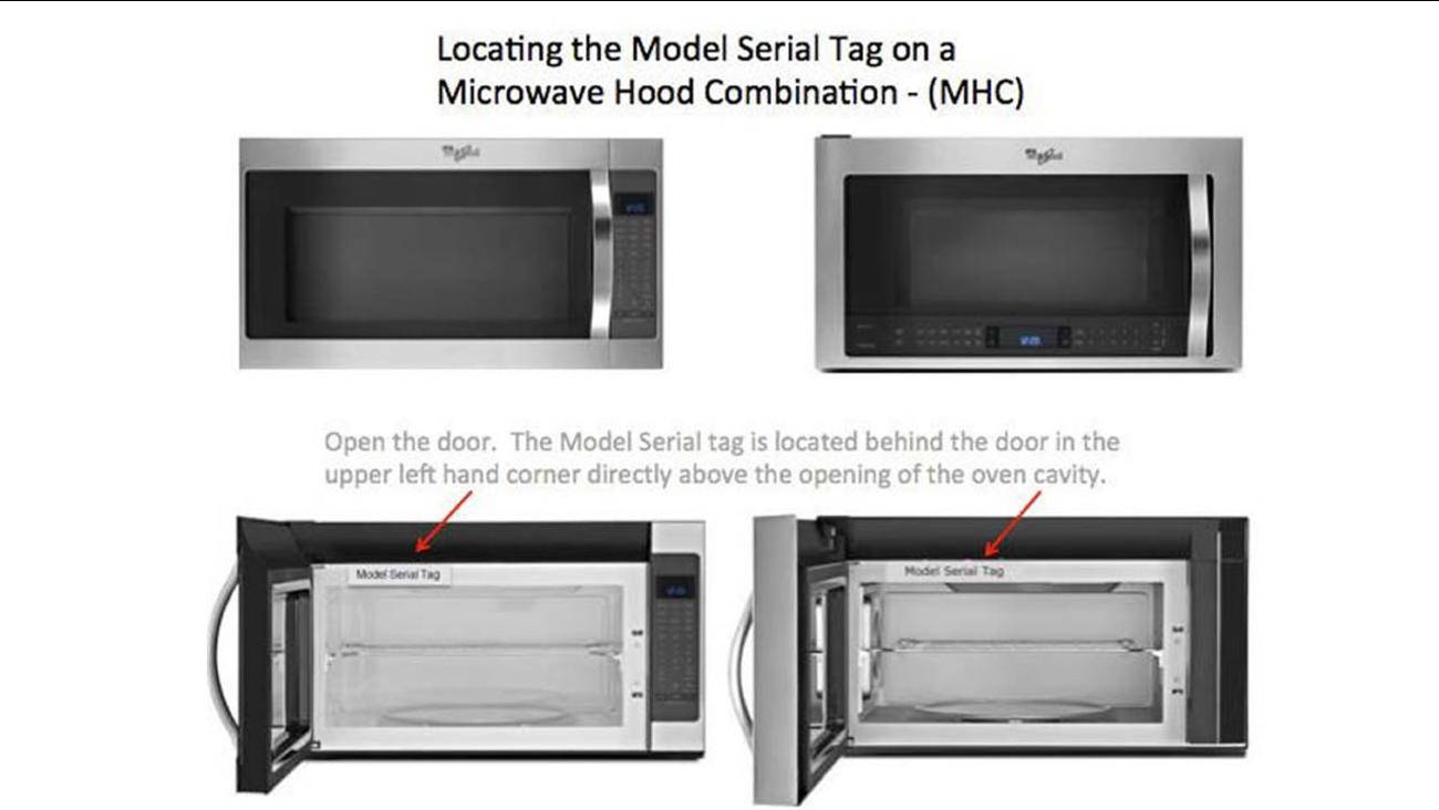 Whirlpool microwave recall