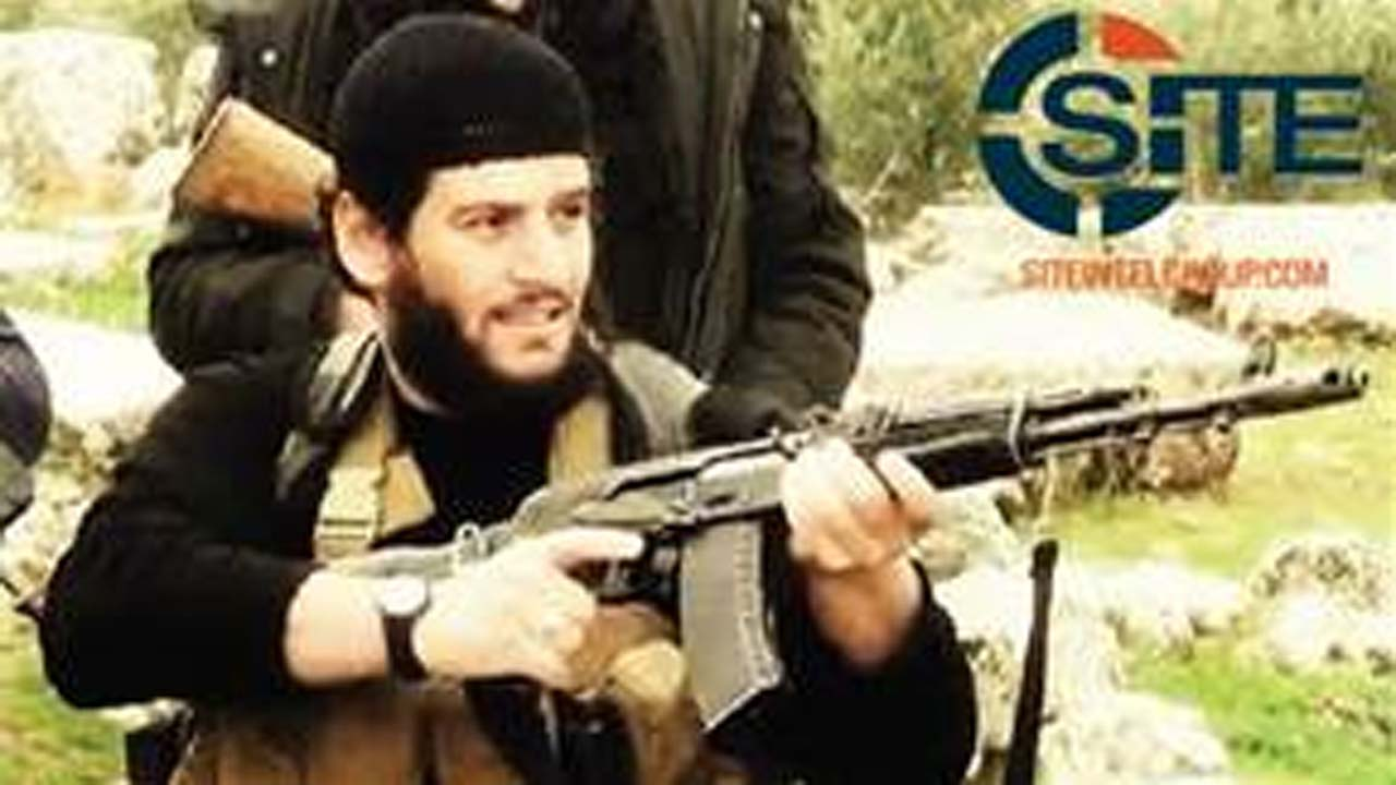 "Abu Muhammed al-Adnani, the Islamic State militant group's spokesman who IS say was ""martyred"" in northern Syria."