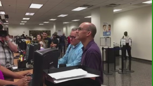 same sex marriage license controversy in Riverside