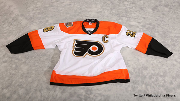 new arrival 2238d 1a408 Philadelphia Flyers unveil 50th anniversary jersey | 6abc.com