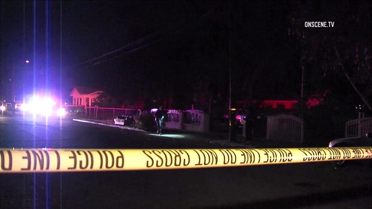 Three people were shot, one critically, in a driveway in San Bernardino on Wednesday evening, Aug. 31, 2016, authorities said.