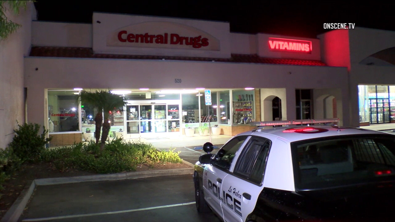 The Central Drugs Pharmacy in the 500 block of La Habra Boulevard in La Habra was burglarized the evening of Wednesday, Aug. 31, 2016.