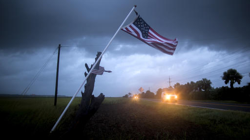 """<div class=""""meta image-caption""""><div class=""""origin-logo origin-image none""""><span>none</span></div><span class=""""caption-text"""">Winds and rain from Hurricane Hermine approach Highway 80 that leads to Tybee Island, Ga., Friday, Sept. 2, 2016. (AP)</span></div>"""