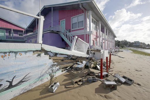 """<div class=""""meta image-caption""""><div class=""""origin-logo origin-image none""""><span>none</span></div><span class=""""caption-text"""">Part of a sea wall that collapsed is seen after Hurricane Hermine passed through Friday, Sept. 2, 2016, in Cedar Key, Fla. (AP)</span></div>"""