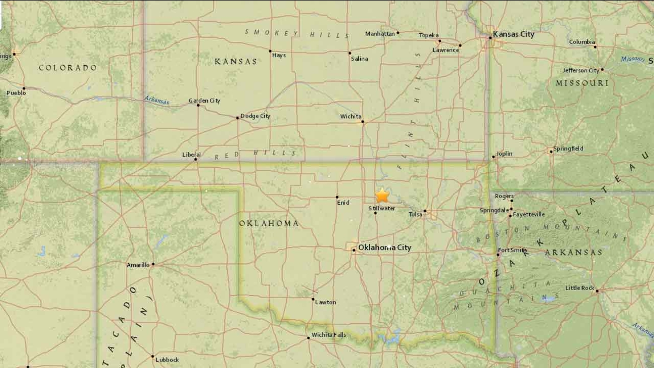 One of the largest earthquakes in Oklahoma, a magnitude 5.6, was felt Saturday, Sept. 3, 2016, from Nebraska to North Texas.