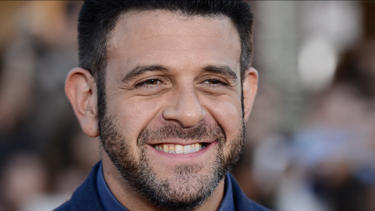 """Television personality Adam Richman attends the premiere of the feature film """"Neighbors"""" on Monday, April 28, 2014 in Los Angeles."""
