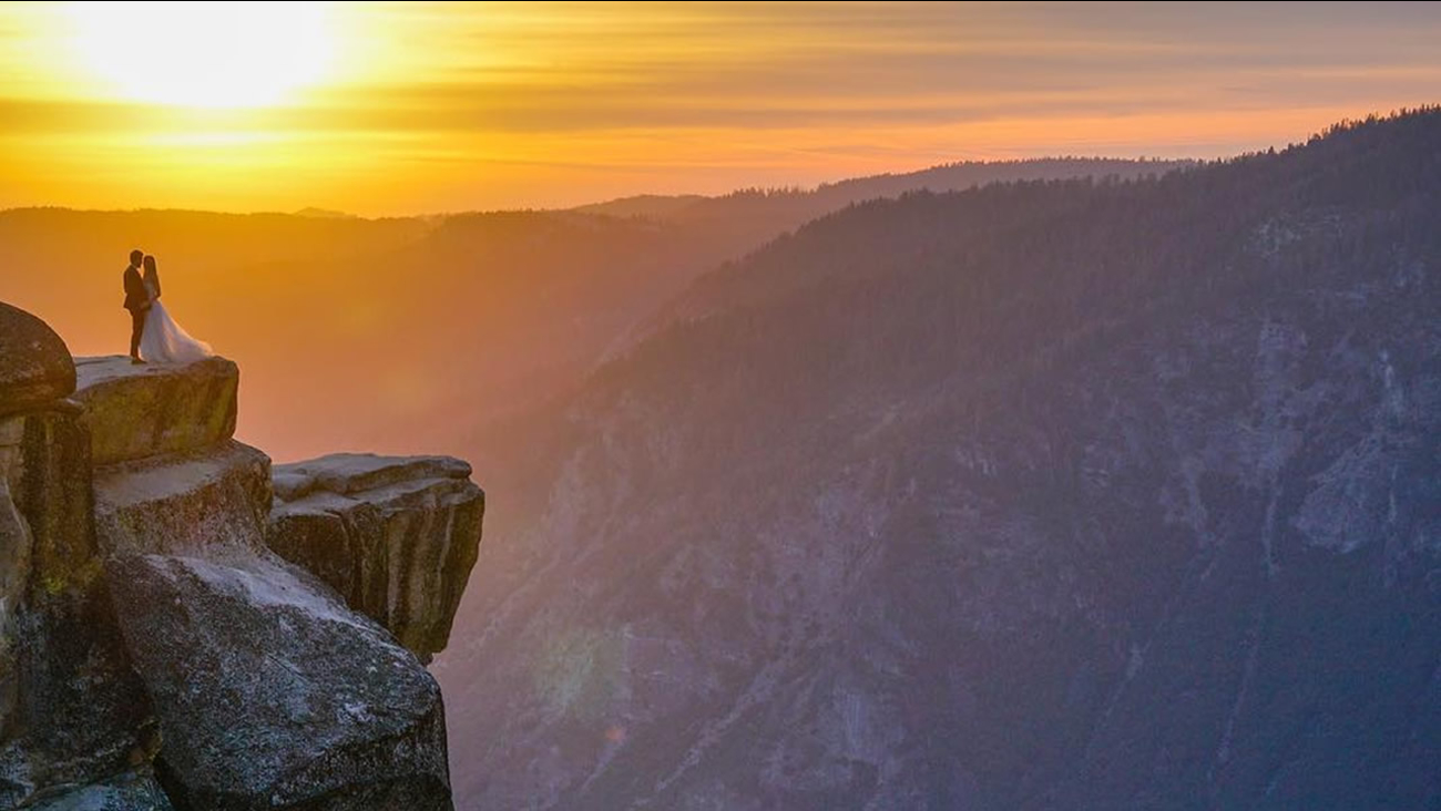 Do you know any newlyweds who were recently in Yosemite? Instagram user @Mike.Karas is trying to track down the stars of this epic wedding photo!