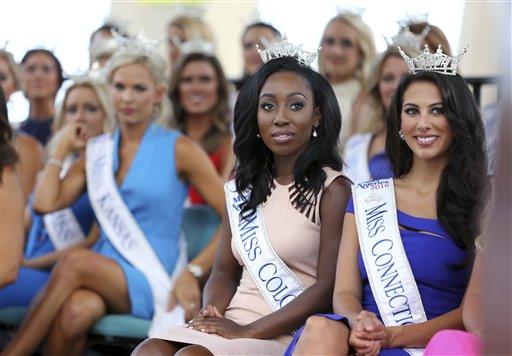 "<div class=""meta image-caption""><div class=""origin-logo origin-image none""><span>none</span></div><span class=""caption-text"">Miss Colorado, Shannon Patilla and Miss Connecticut, Alyssa Rae Taglia Tuesday, Aug. 30, 2016, in Atlantic City (AP)</span></div>"