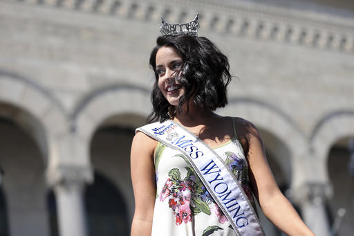 "<div class=""meta image-caption""><div class=""origin-logo origin-image none""><span>none</span></div><span class=""caption-text"">Miss Wyoming, Jordyn Hall is introduced during Miss America Pageant arrival ceremonies Tuesday, Aug. 30, 2016, in Atlantic City. (AP)</span></div>"