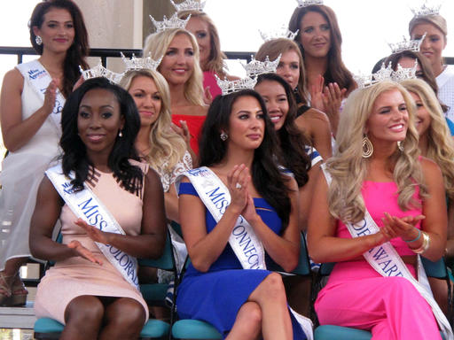 "<div class=""meta image-caption""><div class=""origin-logo origin-image none""><span>none</span></div><span class=""caption-text"">This Tuesday, Aug. 30, 2016 photo shows Miss America contestants at a welcoming ceremony in Atlantic City. (AP)</span></div>"