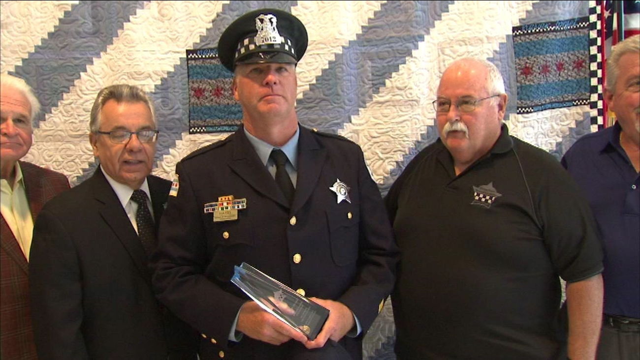 The Chicago Police Memorial Foundation honored Officer Sean Hayes Wednesday as September's Officer of the Month.
