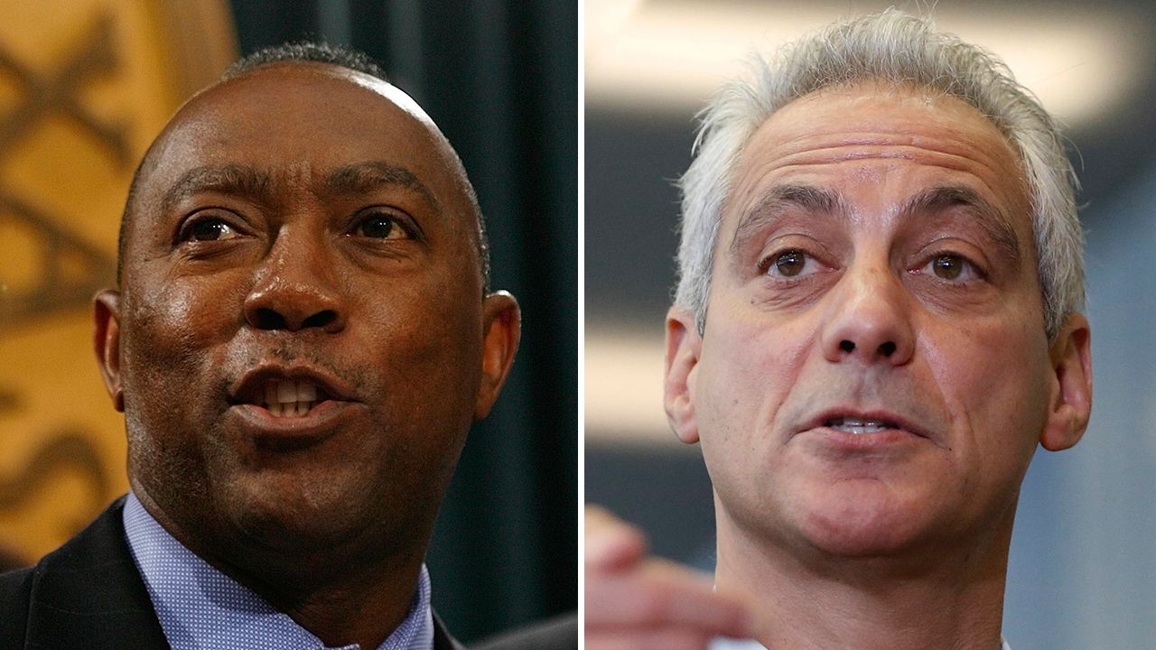 Sylvester Turner and Rahm Emanuel