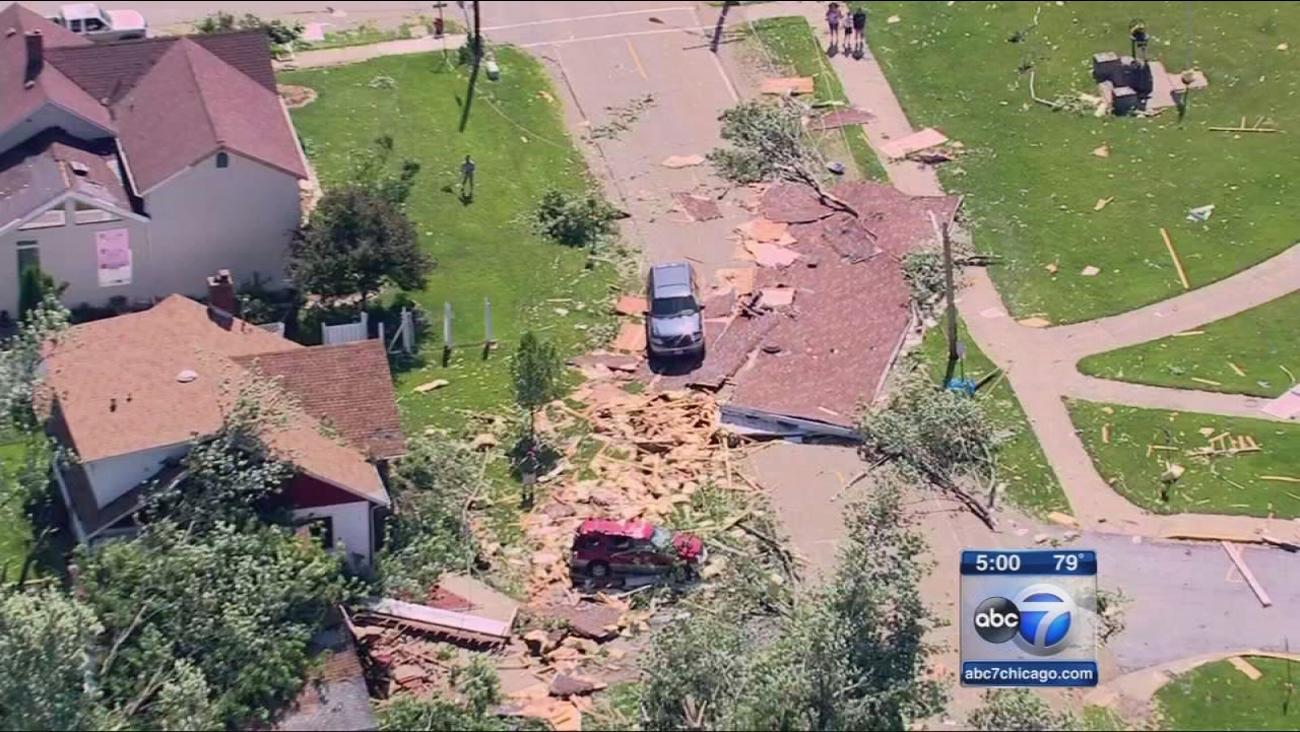 Earlville hit by EF-1 tornado