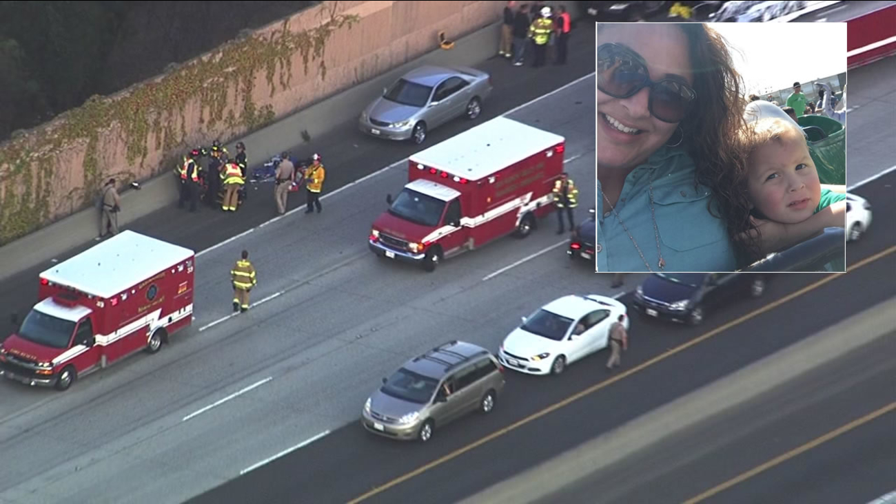 CHP officers arrested Pleasanton resident Yarenit Liliana Malihan, 39, for a car crash that killed 3-year-old Elijah on I-680 on Friday, September 9, 2016, in San Ramon, Calif.