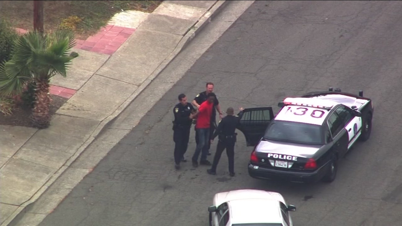 Police tracked down two robbery suspects in Vallejo, Calif., on Monday, September 12, 2016.