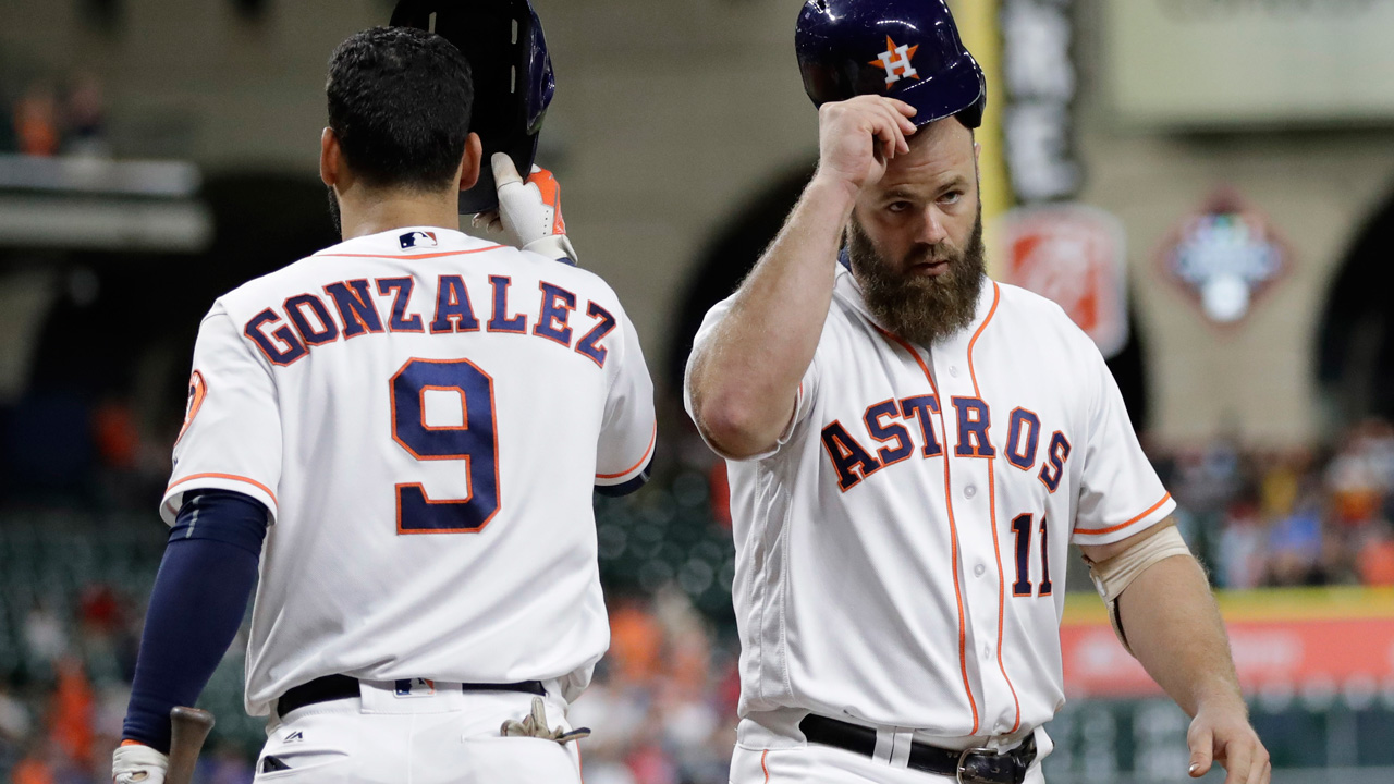 Houston Astros - Evan Gattis and Marwin Gonzalez