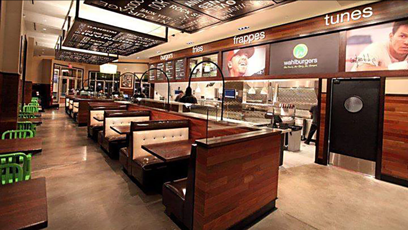 A typical Wahlburgers restaurant.