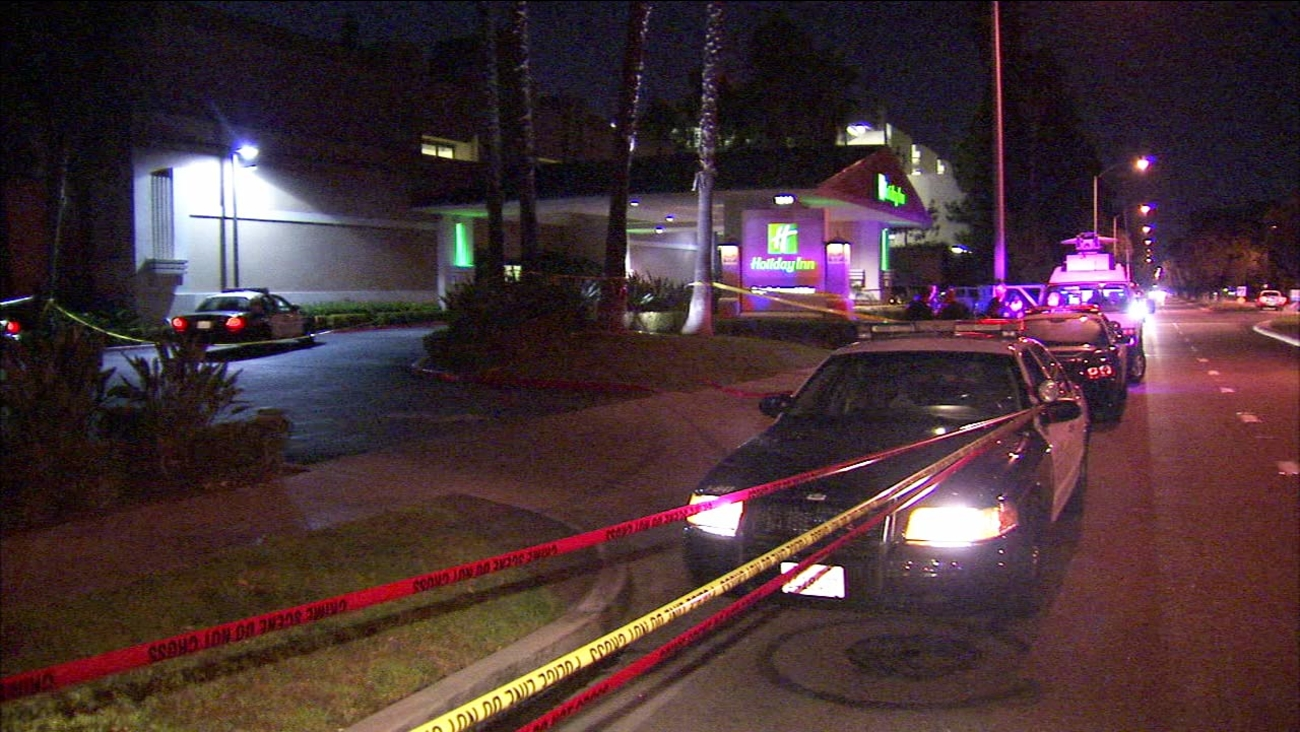 Police and firefighter-paramedics responded after two people were stabbed within half a mile of each other in Anaheim on Thursday, Sept. 15, 2016.