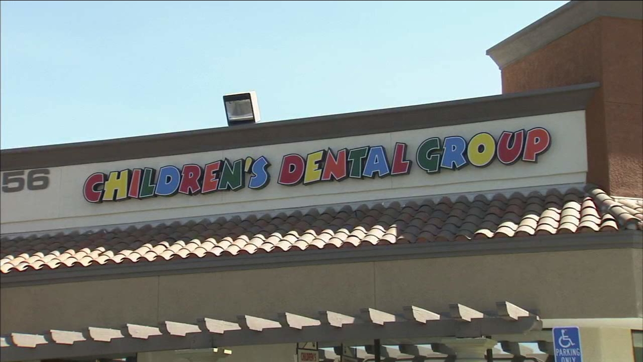 The sign for Children's Dental Group in Anaheim is seen in this undated file photo.