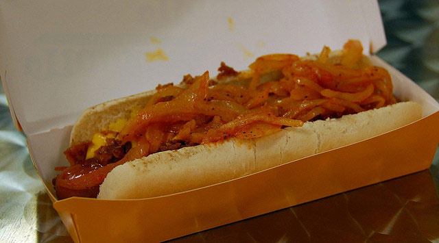 """<div class=""""meta image-caption""""><div class=""""origin-logo origin-image """"><span></span></div><span class=""""caption-text"""">NEW YORK CITY: spicy ground mustard and onions sauteed in tomato paste. Available on most street corners. (Flickr/LWYoung)</span></div>"""