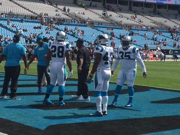 "<div class=""meta image-caption""><div class=""origin-logo origin-image wtvd""><span>WTVD</span></div><span class=""caption-text"">The Carolina Panthers faced off against the San Francisco 49ers Sunday, Sept. 18 (ABC11/Charlie Mickens)</span></div>"