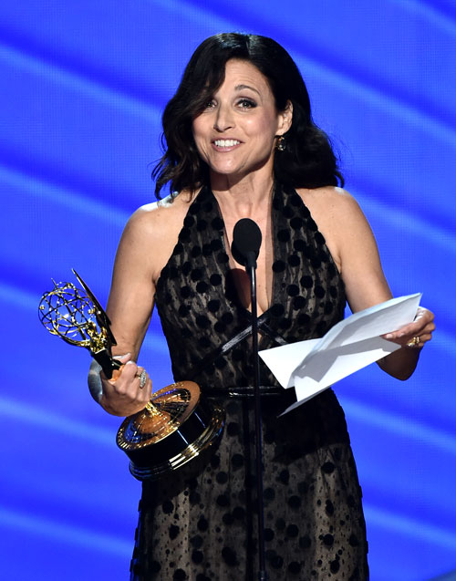 "<div class='meta'><div class='origin-logo' data-origin='AP'></div><span class='caption-text' data-credit='Photo by Vince Bucci/Invision for the Television Academy/AP Images'>Julia Louis-Dreyfus accepts the award for outstanding lead actress in a comedy series for ""Veep"" at the 68th Primetime Emmy Awards on Sunday, Sept. 18, 2016.</span></div>"