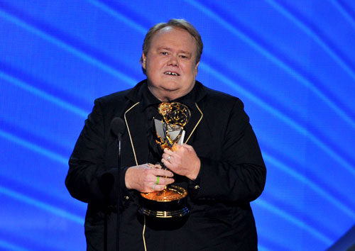 "<div class='meta'><div class='origin-logo' data-origin='AP'></div><span class='caption-text' data-credit='Photo by Vince Bucci/Invision for the Television Academy/AP Images'>Louis Anderson accepts the award for outstanding supporting actor in a comedy series for ""Baskets"" at the 68th Primetime Emmy Awards on Sunday, Sept. 18, 2016.</span></div>"