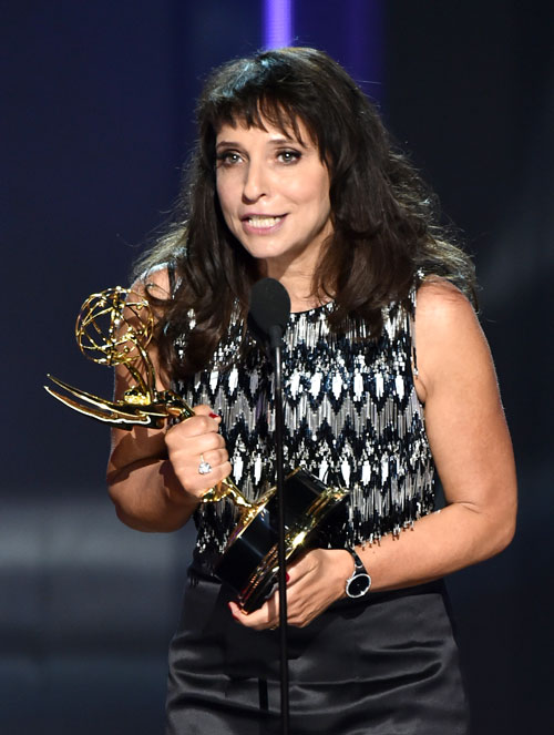 "<div class='meta'><div class='origin-logo' data-origin='AP'></div><span class='caption-text' data-credit='Photo by Vince Bucci/Invision for the Television Academy/AP Images'>Susanne Bier accepts the award for outstanding directing for a limited series, movie or a dramatic special for ""The Night Manager"" at the 68th Emmy Awards on Sunday, Sept 18, 2016.</span></div>"